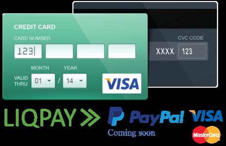 Payment-liqpay-paypal-visa